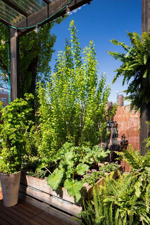 Ein Hochbeet aus alten Paletten passt zum urbanen Gärtnern