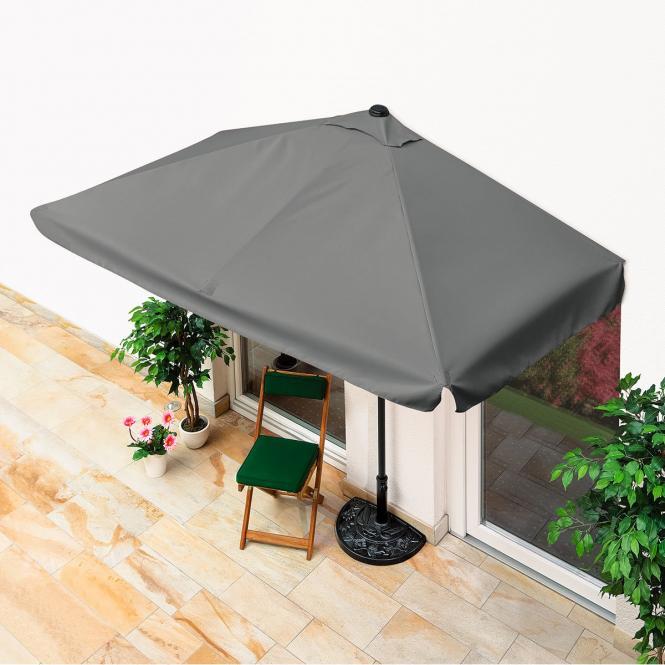 balkon sonnenschirm rechteckig grau mein schrebergarten. Black Bedroom Furniture Sets. Home Design Ideas