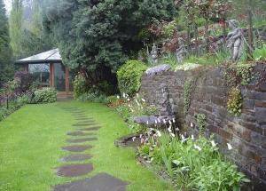 Rückzugsort Gartenhaus Lesen und Arbeiten