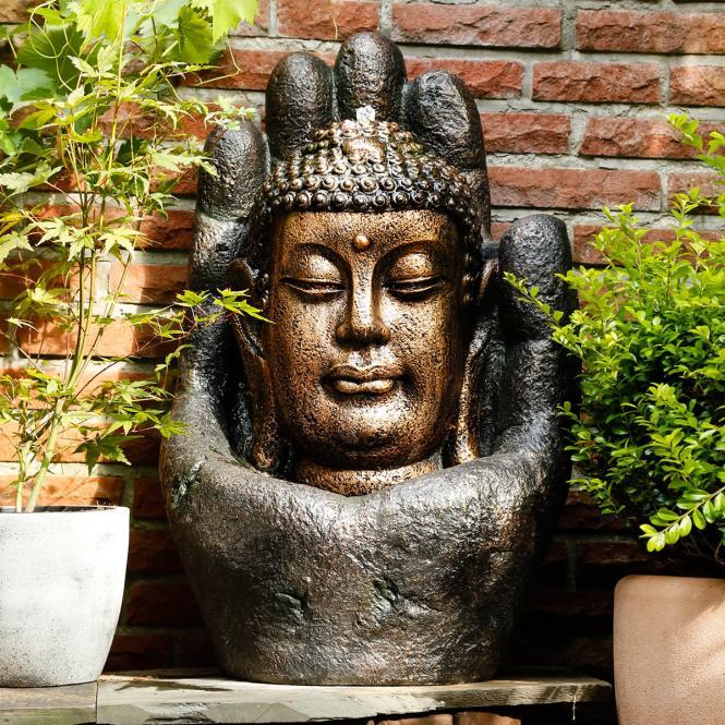 Buddha Brunnen Karma O Mein Schrebergarten