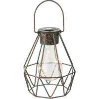 LED-Dekosolarleuchte Cage zum Stellen und Hängen