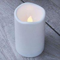 LED-Kerze Storm für außen, Höhe 12,5 cm