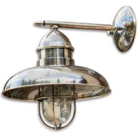 LOBERON Außenwandlampe Lancey, silber (39cm)