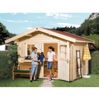 Weka Holz-Gartenhaus/Gerätehaus Brescia A BxT: 250 cm x 250 cm mit Vordach