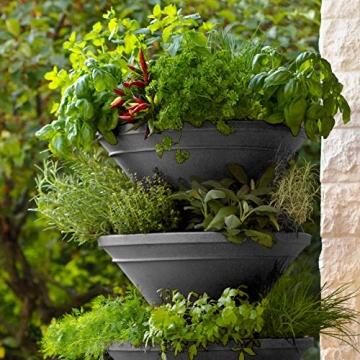 bluegreenshop.de Vertical Garden XL – Turm-Hochbeet/Pflanzturm (Grau) - 2