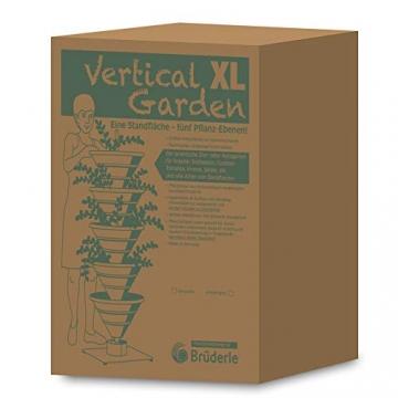 bluegreenshop.de Vertical Garden XL – Turm-Hochbeet/Pflanzturm (Grau) - 5