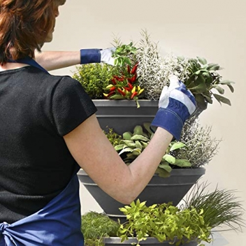 bluegreenshop.de Vertical Garden XL – Turm-Hochbeet/Pflanzturm (Grau) - 8