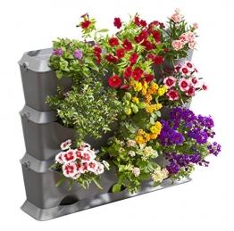 Gardena NatureUp! Basis Set Vertikal: Pflanzenwand zur vertikalen Begrünung von Balkon/Terrassen/Innenhöfen, Basisset für 9 Pflanzen, erweiterbares Stecksystem mit Klipps, wetterbeständig (13150-20) - 1