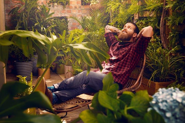 Relaxing im Garten